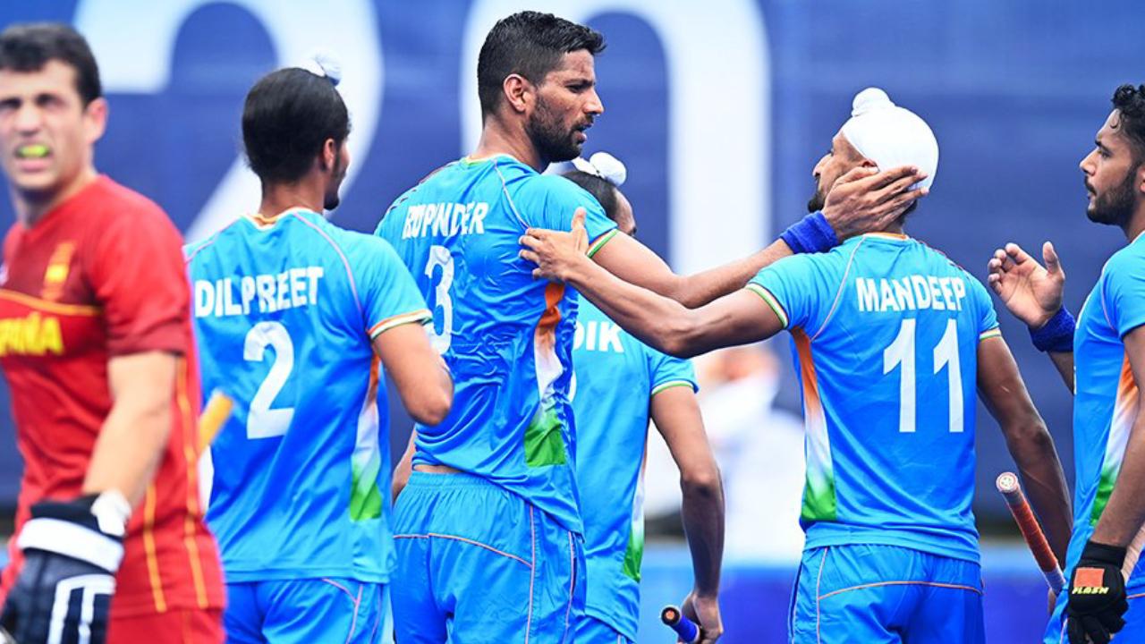 Tokyo Olympics: भारतीय पुरुष हॉकी टीम ने स्पेन को 3-0 से हराया